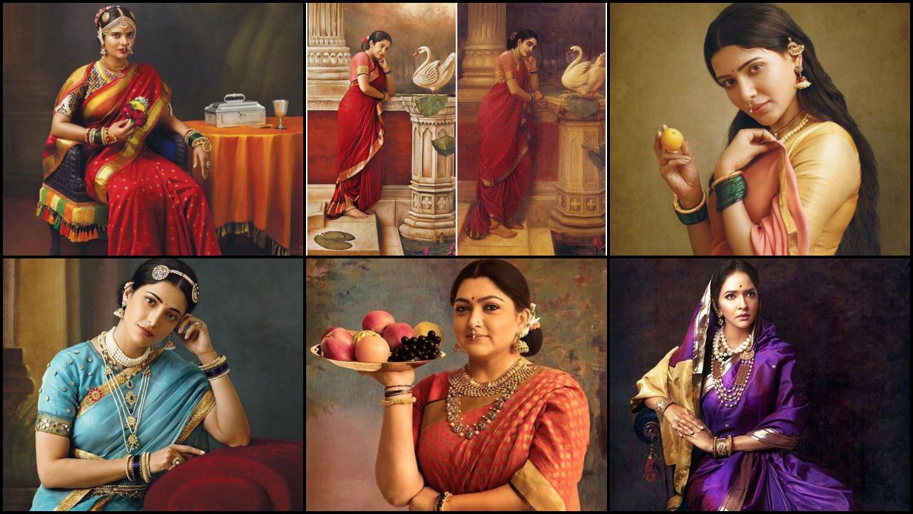 G Venket Ram recreates Raja Ravi Varma's Paintings For his 2020 Calendar Photoshoot